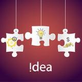 Het creatieve het conceptenidee technologie van het bedrijfsnetwerkproces, het Vectorontwerp van het illustratie Moderne malplaat Stock Afbeelding