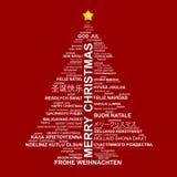 Het creatieve idee van de kerstboom Stock Afbeelding