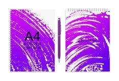 Het creatieve A4-Model met Grunge morste of smeerde Verftextuur royalty-vrije illustratie