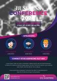 Het Creatieve Ontwerp van de bedrijfsconferentievlieger Royalty-vrije Illustratie