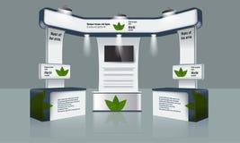 Het creatieve ontwerp van de tentoonstellingstribune Het malplaatje van de handelscabine Collectieve Identiteitsvector Stock Fotografie