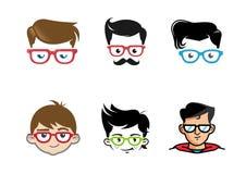 Het creatieve Ontwerp van het het Symboolpak van Geek Hoofd Royalty-vrije Stock Afbeeldingen
