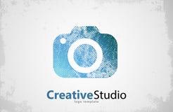 Het creatieve ontwerp van het studioembleem Camera Royalty-vrije Stock Afbeelding