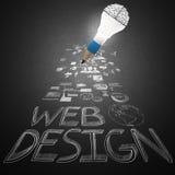 Het creatieve pictogram van het ontwerphand getrokken Web Stock Fotografie
