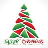 Het creatieve rode groene ontwerp van de chrismtasboom stock illustratie