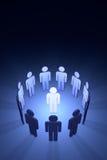 Het creatieve team (symbolische cijfers van mensen) Royalty-vrije Stock Afbeelding