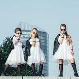 Het creatieve Team van Aantrekkelijke Tienermeisjes stelt Royalty-vrije Stock Foto