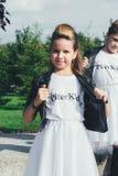 Het creatieve Team van Aantrekkelijke Tienermeisjes stelt Stock Fotografie