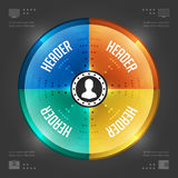 Het creatieve Vectormalplaatje van Infographics. Het Diagram van de cirkelpastei. Het vectoreps10-Ontwerp van de Conceptenillustra Stock Afbeelding