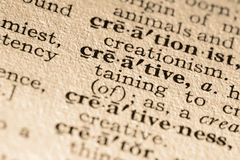 Het creatieve woord Stock Afbeelding