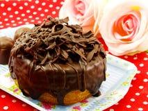 Het croissant van de chocoladedoughnut Royalty-vrije Stock Afbeeldingen
