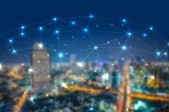 Het cryptocurrenciesconcept van het Blockchainnetwerk, is een onafbreekbaar digitaal grootboek van economische transacties stock afbeeldingen