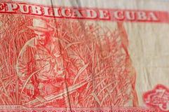 Het Cubaanse bankbiljet van Guevara van Che Stock Foto