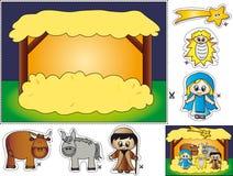 Het cut-and-paste van de geboorte van Christus Royalty-vrije Stock Afbeelding