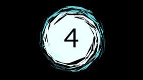Het cyaanaftelprocedure tellen van nummer 5 tot 0 stock videobeelden