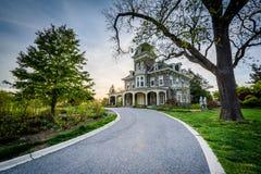Het Cylburn-Herenhuis bij Cylburn-Arboretum, in Baltimore, Maryland royalty-vrije stock fotografie