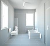 het 3D binnenlandse teruggeven van een badkamers Stock Fotografie