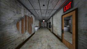 het 3D CG-teruggeven van de bouw van doorgang vector illustratie