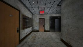 het 3D CG-teruggeven van de bouw van doorgang stock illustratie