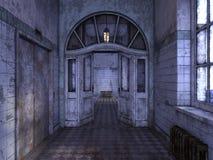 het 3D CG-teruggeven van de bouw van doorgang royalty-vrije illustratie