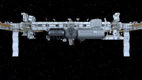 het 3D CG-teruggeven van Ruimtesatelliet Elementen van dit die beeld door NASA wordt geleverd vector illustratie