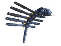 het 3D CG-teruggeven van ruimteschip stock illustratie