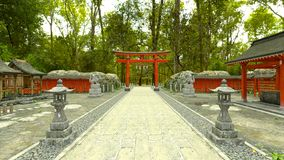 het 3D CG-teruggeven van Shinto-heiligdom vector illustratie
