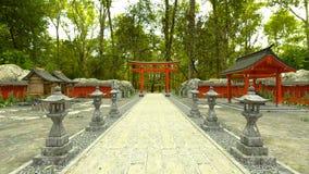het 3D CG-teruggeven van Shinto-heiligdom royalty-vrije illustratie