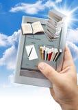 het 3d e-boek gebruiken royalty-vrije stock fotografie