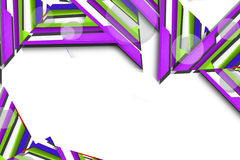 het 3d groene en purpere driehoek overlaping, abstracte achtergrond Stock Foto