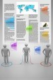 het 3d mensen verbinden Stock Afbeelding