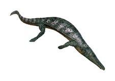 het 3D Teruggeven Archegosaurus op Wit royalty-vrije stock foto