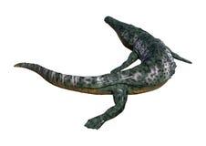 het 3D Teruggeven Archegosaurus op Wit stock afbeeldingen