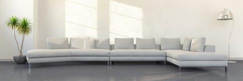 het 3d teruggeven - binnenland van moderne woonkamer stock illustratie