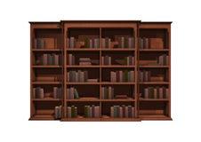 het 3D Teruggeven Bokshelf op Wit Royalty-vrije Stock Foto