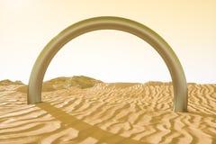 het 3d teruggeven, de brede woestijn, met strepenvormen vector illustratie