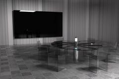 het 3d teruggeven De ruimte van de conferentie Stock Afbeeldingen