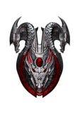 het 3D Teruggeven Dragon Shield op Wit Stock Afbeeldingen