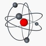 het 3d teruggeven Elementaire deeltjes, atomen Royalty-vrije Stock Fotografie