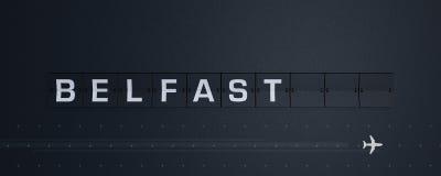 het 3D Teruggeven Flip Board Capital Belfast Royalty-vrije Stock Afbeelding