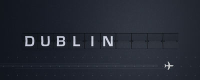 het 3D Teruggeven Flip Board Capital Dublin Stock Afbeelding