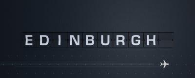 het 3D Teruggeven Flip Board Capital Edinburgh Stock Foto's