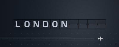 het 3D Teruggeven Flip Board Capital Londen Stock Fotografie