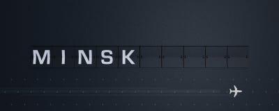 het 3D Teruggeven Flip Board Capital Minsk Stock Afbeeldingen