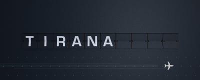 het 3D Teruggeven Flip Board Capital Tirana Royalty-vrije Stock Foto