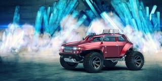 het 3D teruggeven - generisch concept off-road auto Royalty-vrije Stock Afbeeldingen
