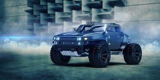 het 3D teruggeven - generisch concept off-road auto Stock Afbeeldingen