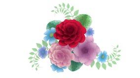 het 3d teruggeven, het groeien bloemenbloemen als achtergrond, bloeiend botanisch patroon, bruids rond boeket, suikergoedpastelkl royalty-vrije illustratie