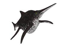 het 3D Teruggeven Ichthyosaur Shonisaurus op Wit Royalty-vrije Stock Afbeelding