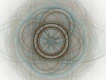 het 3D teruggeven met abstract fractal blauw patroon Royalty-vrije Stock Fotografie
